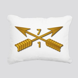 1st Bn 7th SFG Branch wo Rectangular Canvas Pillow