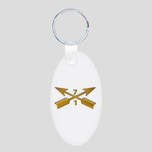 1st Bn 7th SFG Branch wo Tx Aluminum Oval Keychain