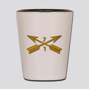 1st Bn 7th SFG Branch wo Txt Shot Glass