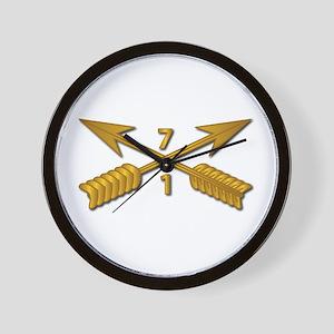 1st Bn 7th SFG Branch wo Txt Wall Clock