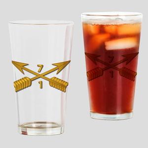 1st Bn 7th SFG Branch wo Txt Drinking Glass