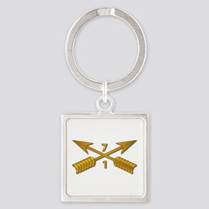 1st Bn 7th SFG Branch wo Txt Square Keychain