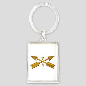 1st Bn 7th SFG Branch wo Txt Portrait Keychain
