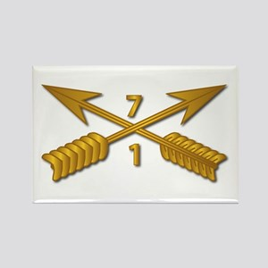 1st Bn 7th SFG Branch wo Txt Rectangle Magnet