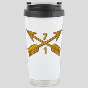 1st Bn 7th SFG Branch w Stainless Steel Travel Mug