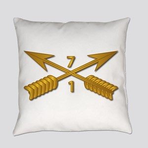 1st Bn 7th SFG Branch wo Txt Everyday Pillow