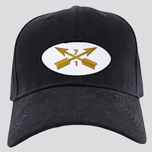 1st Bn 7th SFG Branch wo Txt Black Cap