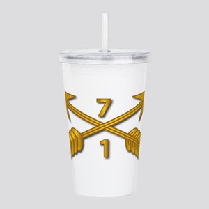1st Bn 7th SFG Branch Acrylic Double-wall Tumbler