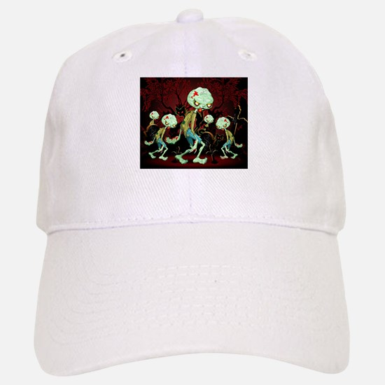 Zombie Creepy Monster Cartoon Baseball Baseball Cap
