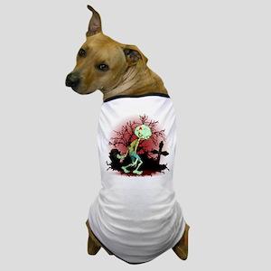 Zombie Creepy Monster Cartoon Dog T-Shirt