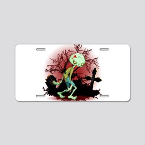 Zombie Creepy Monster Cartoon Aluminum License Pla