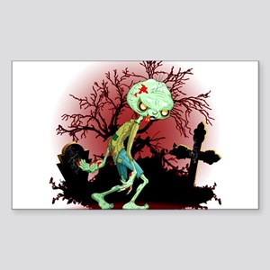 Zombie Creepy Monster Cartoon Sticker