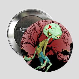 "Zombie Creepy Monster Cartoon 2.25"" Button (10 pac"