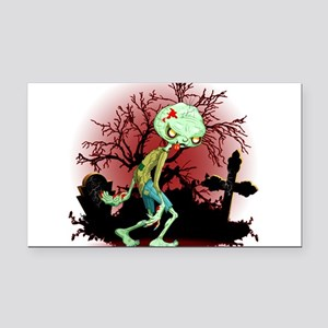 Zombie Creepy Monster Cartoon Rectangle Car Magnet