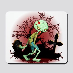 Zombie Creepy Monster Cartoon Mousepad