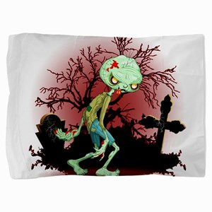 Zombie Creepy Monster Cartoon Pillow Sham