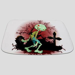 Zombie Creepy Monster Cartoon Bathmat