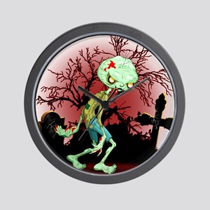 Zombie Creepy Monster Cartoon Wall Clock