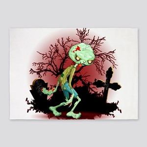 Zombie Creepy Monster Cartoon 5'x7'Area Rug