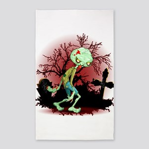 Zombie Creepy Monster Cartoon Area Rug