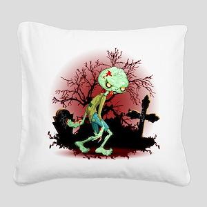 Zombie Creepy Monster Cartoon Square Canvas Pillow