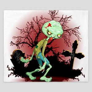 Zombie Creepy Monster Cartoon King Duvet