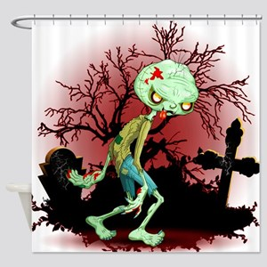 Zombie Creepy Monster Cartoon Shower Curtain