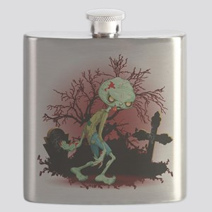 Zombie Creepy Monster Cartoon Flask