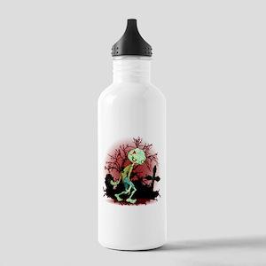 Zombie Creepy Monster Cartoon Sports Water Bottle