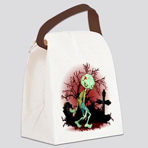 Zombie Creepy Monster Cartoon Canvas Lunch Bag