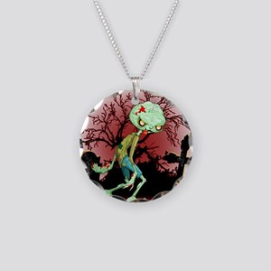 Zombie Creepy Monster Cartoon Necklace Circle Char