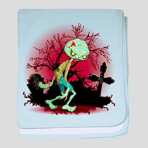 Zombie Creepy Monster Cartoon baby blanket