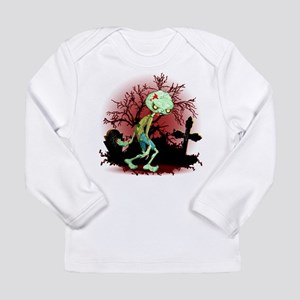 Zombie Creepy Monster Cartoon Long Sleeve T-Shirt