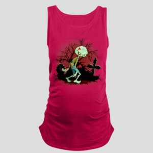 Zombie Creepy Monster Cartoon Maternity Tank Top