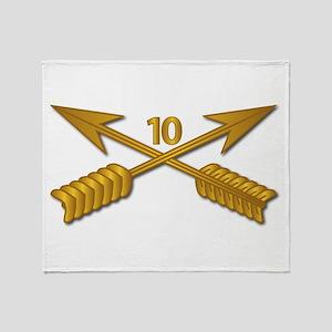 10th SFG Branch wo Txt Throw Blanket