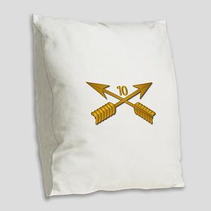 10th SFG Branch wo Txt Burlap Throw Pillow