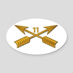 11th SFG Branch wo Txt Oval Car Magnet