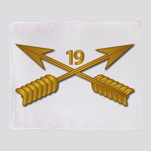 19th SFG Branch wo Txt Throw Blanket