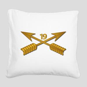 19th SFG Branch wo Txt Square Canvas Pillow