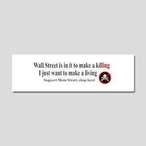 Wall Street Car Magnet 10 x 3