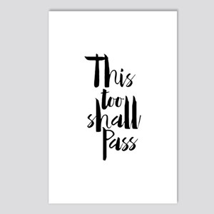 This Too Shall Pass Postcards (package Of 8)