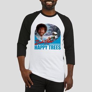 DarkT_HappyTrees_SkyBlue Baseball Jersey