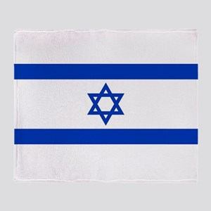 Flag of Israel, the Star of David Throw Blanket