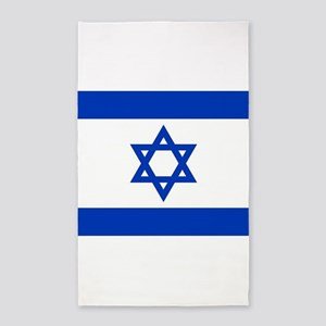 Flag of Israel, the Star of David Area Rug