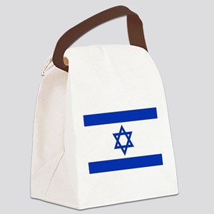 Flag of Israel, the Star of David Canvas Lunch Bag