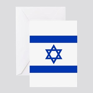 Flag of Israel, the Star of David Greeting Cards