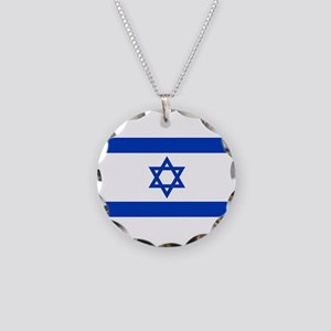 Flag of Israel, the Star of Necklace Circle Charm