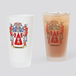 Enriques Coat of Arms - Family Cres Drinking Glass