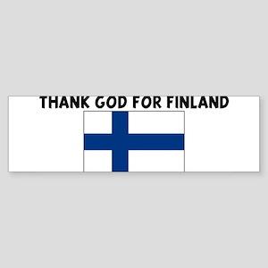 THANK GOD FOR FINLAND Bumper Sticker