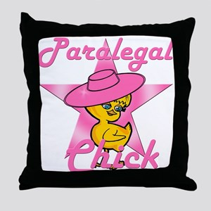 Paralegal Chick #8 Throw Pillow